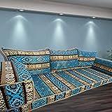 Piso sofá árabe estilo piso muebles, hecho a mano sofá