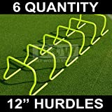 Agility Hurdles (Set of 6 x 12in) – Multi-Sport Speed Training Aid [Net World Sports] (12' Hurdles)