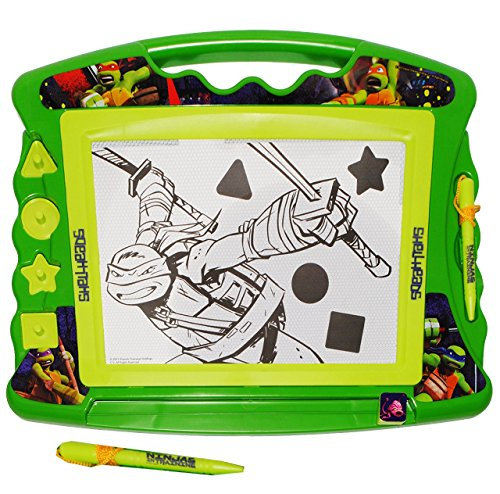 Unbekannt Zaubertafel / magische Maltafel -  Teenage Mutant Ninja Turtles  - incl. 4 Stempel - Reisemaltafel - Reisemalset - Kindermaltafel - Magnet Tafel - Kinder / ()