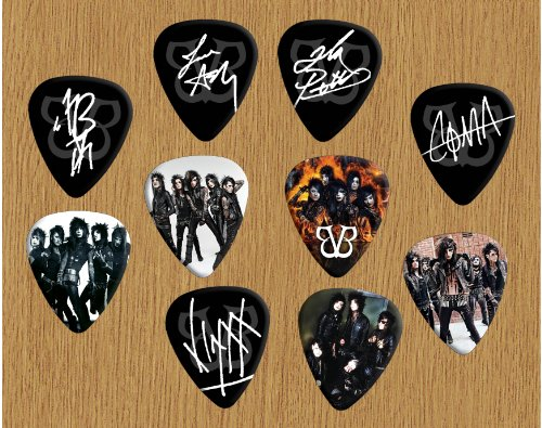 Black Veil Brides Signed Autograph Loose plektron X 10 (Limited to 500 sets of 10 plektron) Black Veil Brides-instrumente