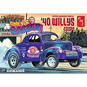 AMT amt939 1: 25 Escala 1940 Rizado de Willys Coupe Gasser Dragster Modelo Kit