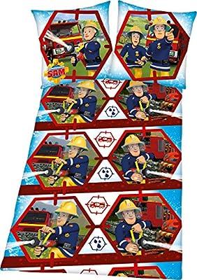 Herding Bettwäsche mit Druckmotiv Feuerwehrmann Sam Renforcé