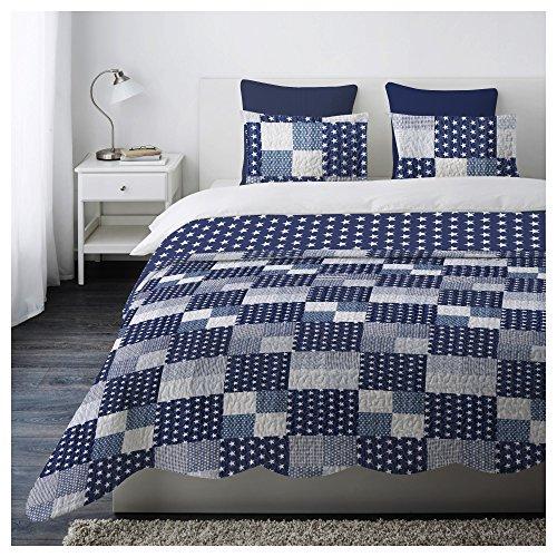 Trapuntino Copriletto Matrimoniale Boutis Prat Mod. STAR Colore Blu,misura 250 X 250 cm - 2 piazze