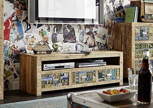 MASSIVMOEBEL24.DE Massivholz Mango Möbel Vintage lackiert TV-Board Massivmöbel massiv Holz Mehrfarbig Detroit #51