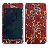 DeinDesign Samsung Galaxy J1 (2016) Folie Skin Sticker aus Vinyl-Folie Aufkleber China Drachen Dragons