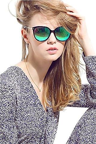 Diamond Candy Lunettes de soleil Pour Femmes Anti-UV Style Nerd Wayfarer R¨¦tro Vintage