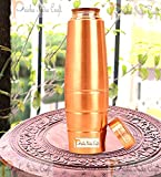 #10: Prisha India Craft New Design Stylish Copper Bottle with Grip, Storage & Travelling Purpose, Yoga Ayurveda Healing, 1000 ML