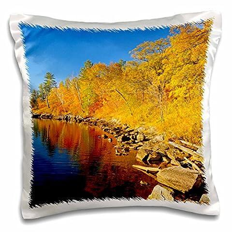 Danita Delimont - Autumn - Canada, Ontario, Nestor Falls. Autumn on shore of Lake of the Woods. - 16x16 inch Pillow Case (pc_205587_1)