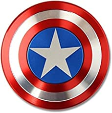 Heal And Heaven Captain America Metal Shield Hand Spinner (Red)