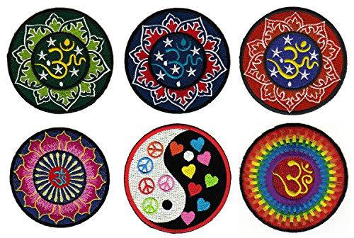 Hindú Om Yoga parche arco de 6unidades de Patch