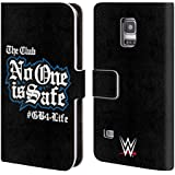 Official WWE No One Is Safe Aj Styles Leather Book Wallet Case Cover For Samsung Galaxy S5 mini