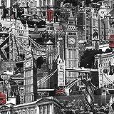 Muriva 102501 Novelties London Wallpaper Rolls - Black and White