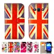 32nd� Design book PU leather wallet case cover for Samsung Galaxy A3 SM-A300 + screen protector and cloth - Union Jack UK Flag