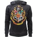 Harry Potter Sudadera con Capucha Hoodie Simbolo de Colegio DE Hogwarts Simbolo 4 Casas - 100% Oficial Warner Bros (XS 10-14