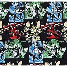 Tela Kawaii con diseño de los personajes de los cómics de Marvel, 0,5