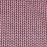 Hamburger Liebe Hipster Square Knit Knit Jacquard-Jersey Bio-Stoff Baumwolle kba GOTs (Rosa)