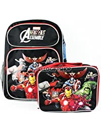 Marvel Avengers Assemble Boys And Girls School Backpack With Lunch Bag Set