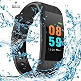 SHOPZIE Rubber Fitness Tracker Watch For Athletes & Sports PRO | Activity Tracker | Fitness Band |Sleeping Monitor/Pedometer/Blue Tooth 4.0- (Black)