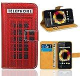 Wiko Sunset Handy Tasche, FoneExpert Wallet Case Flip Cover Hüllen Etui Ledertasche Lederhülle Premium Schutzhülle für Wiko Sunset