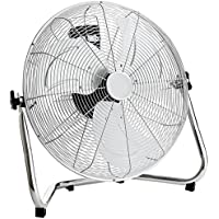 "Oypla Electrical 20"" Inch 50cm Chrome 3 Speed Floor Standing Gym Fan Hydroponic"