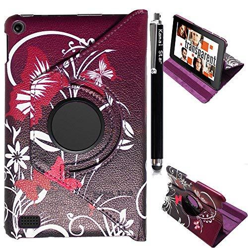 Kamal Star® Fire HD 72015SmartShell Schutzhülle-Ultra Slim Leichte stehend 360drehbar cover für Amazon Fire HD 7Tablet (passt nur Fire HD 17,8cm Display 5. Generation-2015Version) + Stylus (Star Iphone 5 Fall)