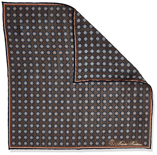 Brooks Brothers Men's Pocket Square Logo Ties Set, Marrone (Brown 200), One Size