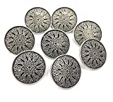 #1: Designer Imported Metal Button - pack of 6