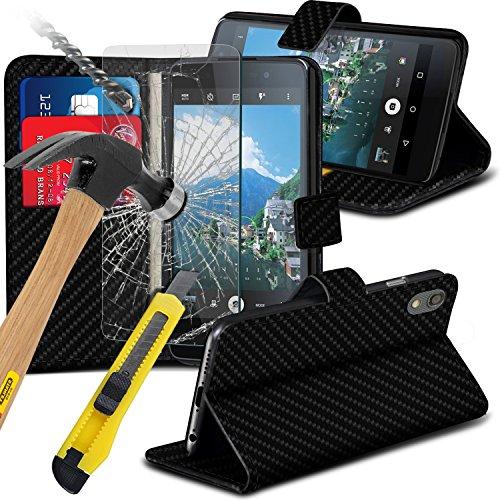 klappetui-fur-blackberry-dtek50-mit-kartenschlitz-und-displayschutz-aus-gehartetem-glas-karbonfaser-