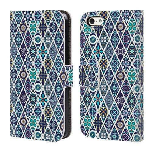 Offizielle Iuliia Lelekova Marokkanische Fliese Muster Brieftasche Handyhülle aus Leder für Apple iPhone 6 / 6s Marokkanische Fliese