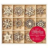 Large Mixed Wooden Shapes 48pcs - Snowflakes