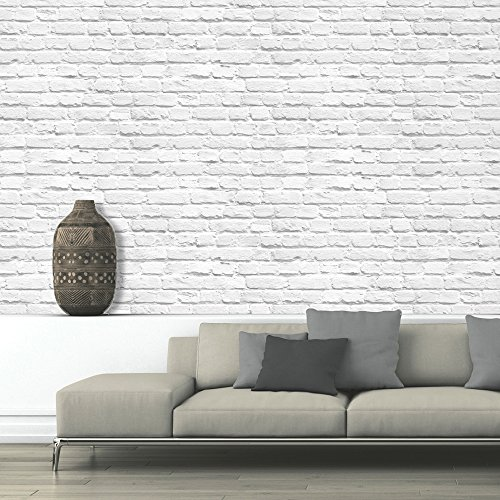 UGEPA J66529 - Papel pintado, color: blanco