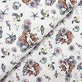 Swafing GmbH - Stoff - Disney Jersey Arielle & Fabius weiß