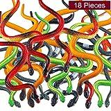 Blulu 18 Pezzi Serpenti di Plastica Serpenti della Foresta Pluviale Multicolore Serpente Realistico Giocattoli per Bambini, Festa Decorazione, Premi e Sacchetto Regalo di Riempimento (18 Pezzi)
