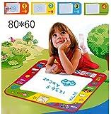 XY Life 80*60cm Wasser malen Aqua Doodle Matte Malmatte mit Wasserfarben Pinsel,Für baby kinder
