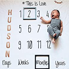 Babymoon Milestone Timeline Love Designer Growth Baby Photography Props- Photo Blanket - Photoshoot Bedsheet - Best Baby Shower Gift