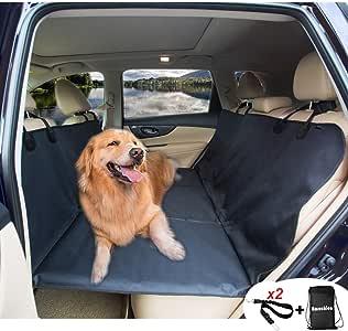 AMOCHIEN Backseat Extender for Dogs Back Seat Pet Bridge, Dog Hammock Covers Entire Back Seat, Rear Pet Foam Platform Divider Barrier Water
