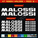 Adesivi Stickers MALOSSI Moto Motorbike cod.0627 (Bianco cod. 010)