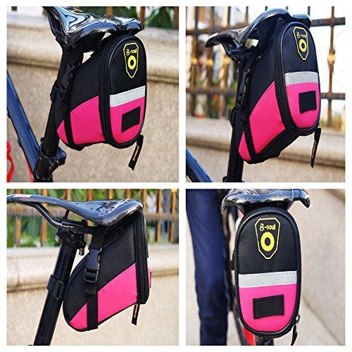 aizhe Bike Radfahren reflektierende Schwanz Tasche Wasser Proof Sitz Tasche Sattel Reiten Fahrrad Tasche hellblau