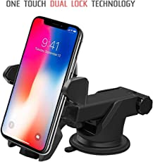 Unifree Universal Car Mobile Holder/Car Mount Long Neck 360° Rotation with Ultimate Reusable Suction Cup for Car Dashboard/Car Windshield/Desktop