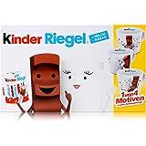 Ferrero Kinder Riegel 10er Packung 210g Schokolade & eine Milky und Schoki Sammel-Tasse aus Porzellan (1er Pack)