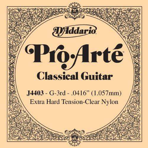 D'Addario J4403 Pro Arte Nylon Einzelsaite 0,11 cm (0,042 Zoll), G-3rd