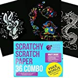 Best UNIQUE Kids Birthday Gifts - Scratch Paper Combo Art Set for Kids: 36 Review