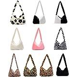WANGQI Umhängetaschen, Plüschhandtaschen, Handtaschen, Clutches, flauschige Handtaschen, Brieftaschen unter den Armen, Umhäng