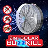 Solar UV Mosquito Bug Zapper Fly Flying Insects Moth Killer Car Camping Caravan