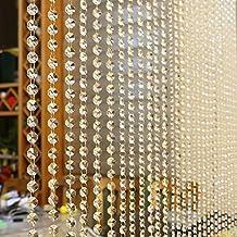 Cortina de cuentas de cristal igemy lujo salón o dormitorio ventana puerta transparente