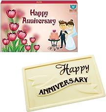 Bogatchi Happy Anniversary Chocolates White Chocolates, 70 Grams