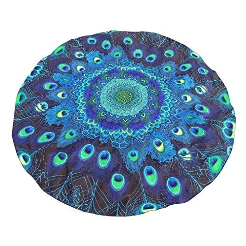 147 x 147cm Runde Druck Hippie Tapisserie Strand Picknick Werfen Yoga Matte Handtuch Decke Wandbehang Tischdecke Tagesdecke Strandtuch Mat Tisch Dekor tapestry Beach Picnic Towel Blanket (Blau) -