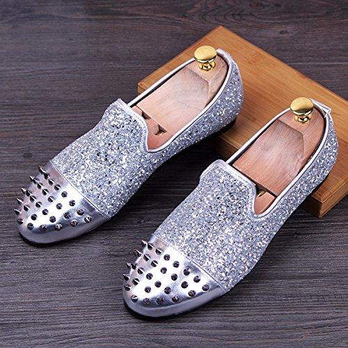 Respirable Veste, Des Chaussures, Des Pois De Chaussures, Des Chaussures En Cuir, Chaussures silvery