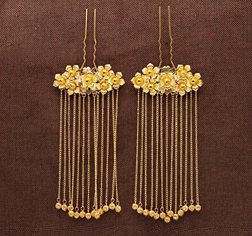 KHSKX-Die Traditionellen Chinesischen Kostüm Bu Yao Fazan Eine Goldene Drachen Zubehör Haarfärbemittel Tassel Kopfschmuck Braut Haar - (Chinesisches Kostüme)