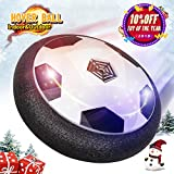 Hover Ball, Air Power Soccer Disc Boys Girls Toys Soft Foam Bumpers with LED Lights Training Football Game Indoor Outdoor Gifts for Kids